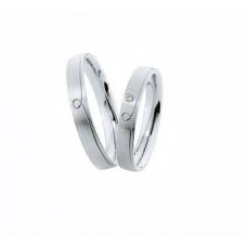 Couple Wedding bands Silver Design