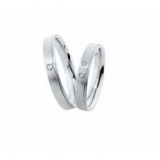 Couple Wedding bands Silver Design