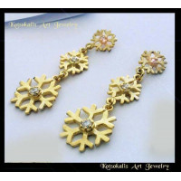 Snowflake Earrings Silver Classic