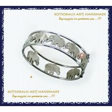 "Bracelet  Elephant  Stones 950"""