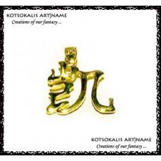 Letter Chinese *K* Gold k14