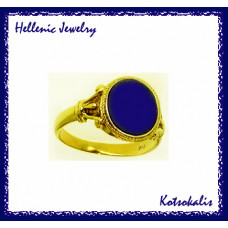 Ring Hellenic with Lapis RH32