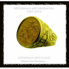 Ring Hellenic with Coin  K18  RHC15