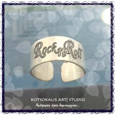 "Ring Rock n Roll silver 950"""