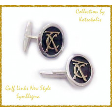 Cufflinks with letters gold k14-585