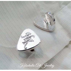 Cufflinks with letter and symbol