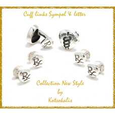 Cufflinks & buttons with letter & symbol